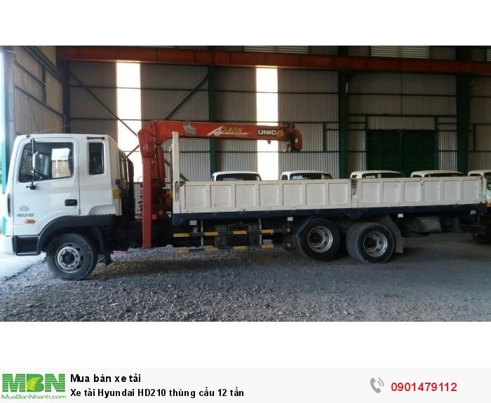 Xe tải Hyundai HD210 thùng cẩu 12 tấn