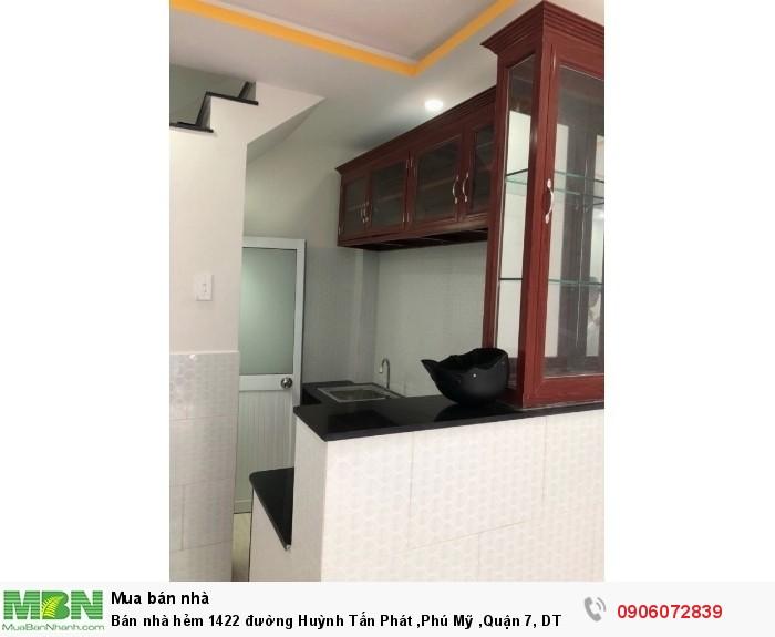 Bán nhà hẻm 1422 đường Huỳnh Tấn Phát ,Phú Mỹ ,Quận 7, DT 40m, giá 1.85 Tỷ