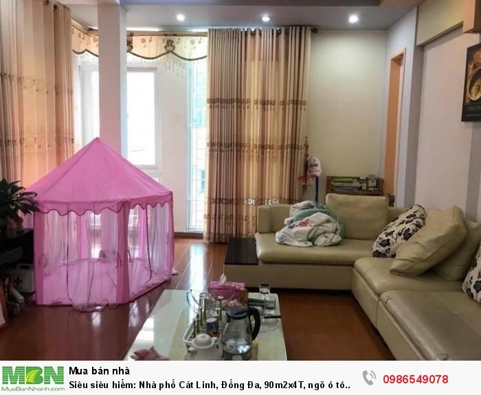 Siêu siêu hiểm: Nhà phố Cát Linh, Đống Đa, 90m2x4T, ngõ ô tô tránh kinh doanh đắc địa, 12.5 tỷ.
