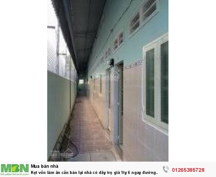 Kẹt vốn làm ăn cần bán lại nhà có dãy trọ ngay đường Phan Văn Mãng ,mặt tiền QL1A