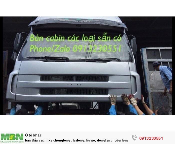 Bán Đầu Cabin Xe Chenglong , Balong, Howo, Dongfeng, Cửu Long, Sinotruck , Đô Thành, Thaco, Tmt 0
