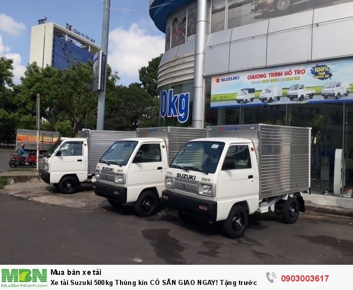 Xe tải Suzuki 500kg Thùng kín CÓ SẴN GIAO NGAY! Tặng trước bạ!