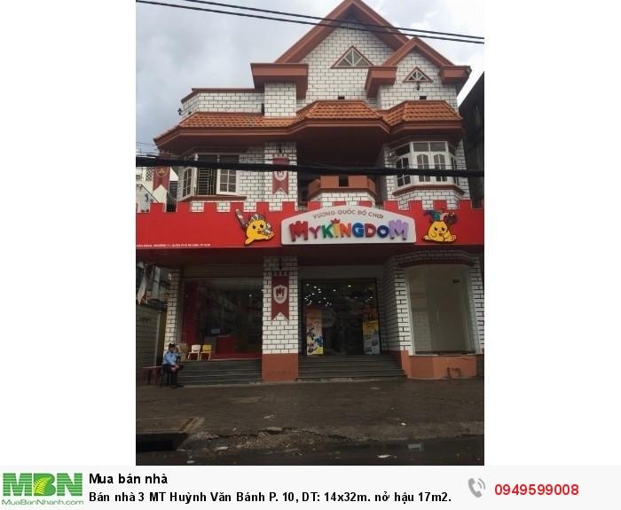 Bán nhà 3 MT Huỳnh Văn Bánh P. 10, DT: 14x32m. nở hậu 17m2. DTCN: 462m2.GPXD:1 hầm 10 lầu