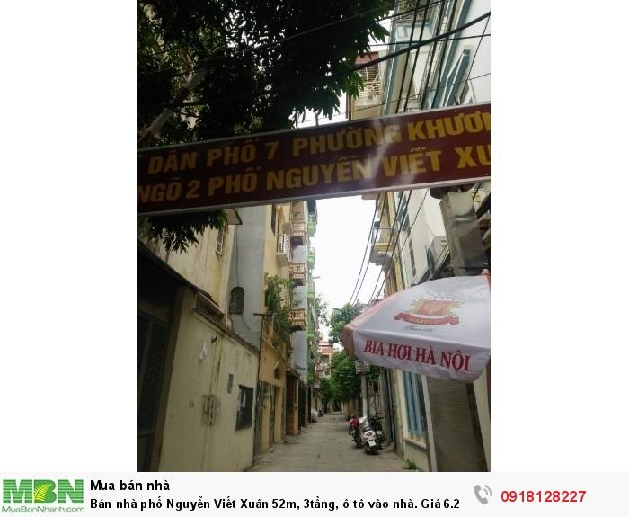 Bán nhà phố Nguyễn Viết Xuân 52m, 3tầng, ô tô vào nhà. Giá 6.2tỷ