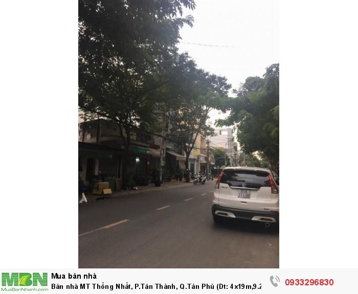 Bán nhà MT Thống Nhất, P.Tân Thành, Q.Tân Phú (Dt: 4x19m,9.2 tỷ)