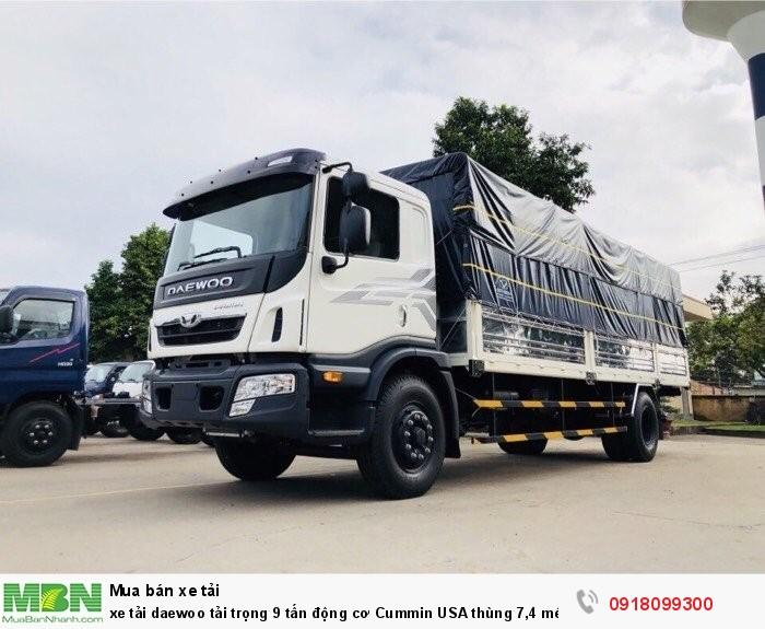 Xe tải daewoo tải trọng 9 tấn động cơ Cummin USA thùng 7,4 mét