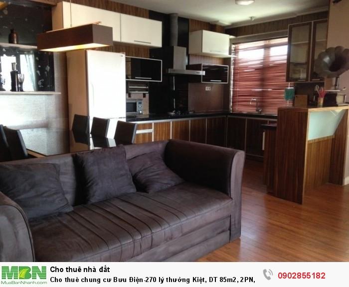 Cho thuê chung cư Bưu Điện-270 lý thường Kiệt, DT 85m2, 2PN, 2WC nhà sàn gỗ đủ nội thất cao cấp