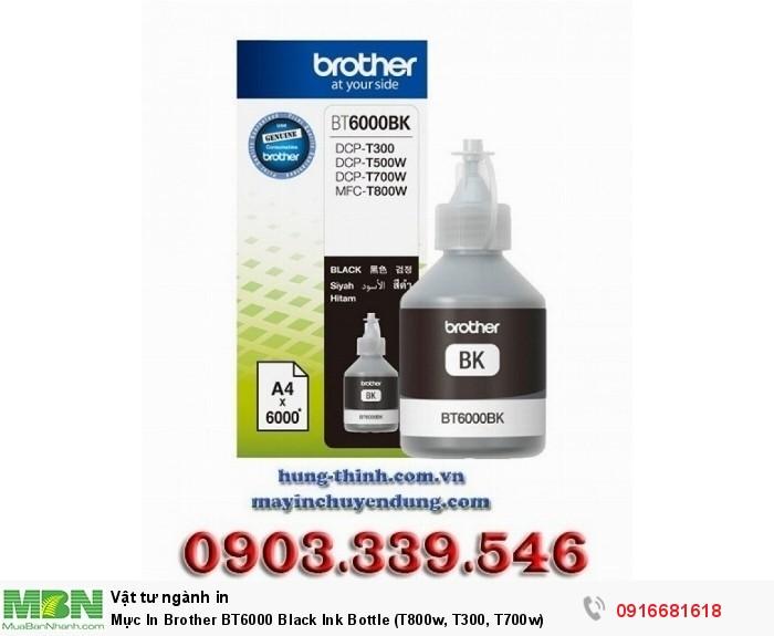 Mực In Brother BT6000 Black Ink Bottle (T800w, T300, T700w)0