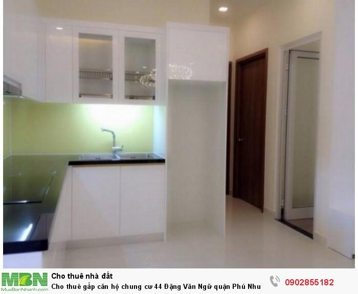 Cho thuê gấp căn hộ chung cư 44 Đặng Văn Ngữ quận Phú Nhuận. Diện tích 75 m2, 2pn,1wc.11tr