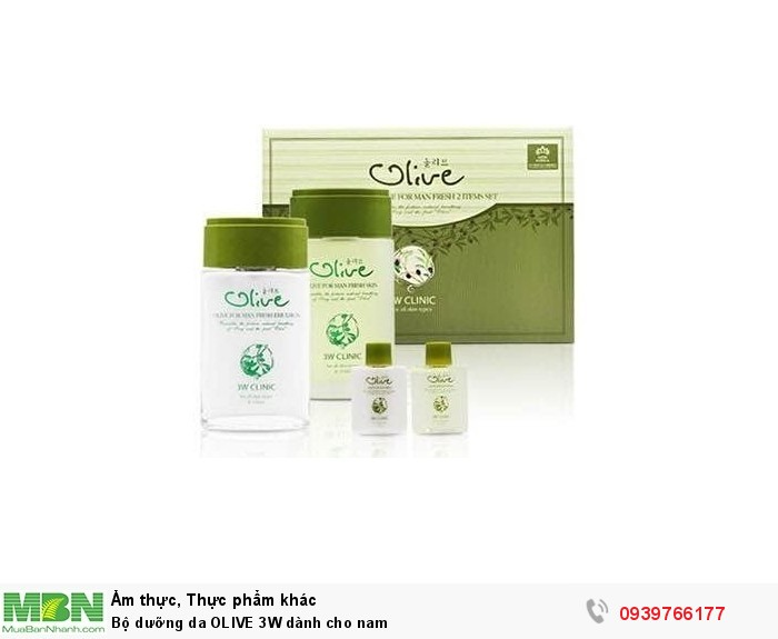Bộ dưỡng da OLIVE 3W dành cho nam0