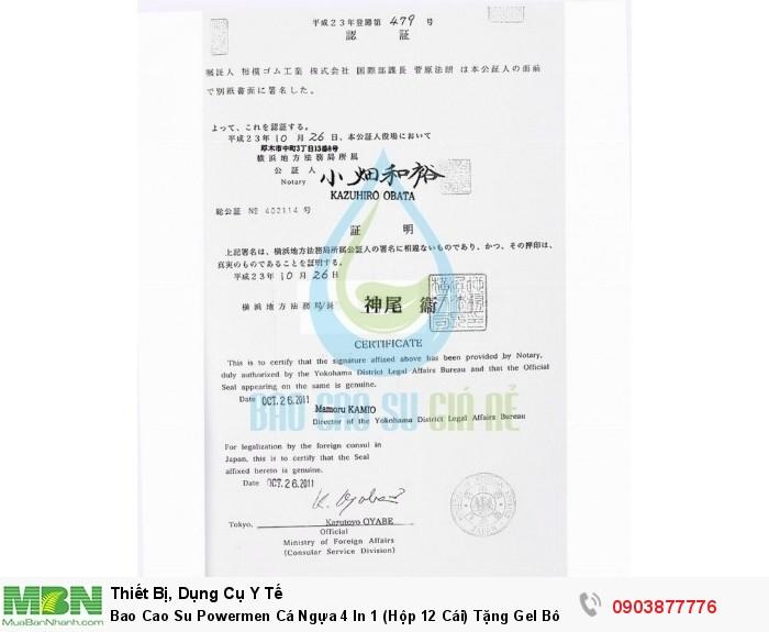 Bao Cao Su Powermen Cá Ngựa 4 In 1 (Hộp 12 Cái) Tặng Gel Bôi Trơn cao cấp5