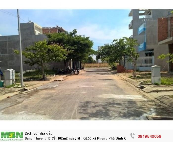 Sang nhượng lô đất 102m2 ngay MT QL50 xã Phong Phú Bình Chánh