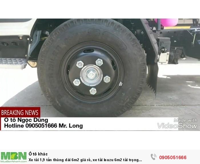 Xe tải 1,9 tấn thùng dài 6m2 giá rẻ, xe tải Isuzu 6m2 tải trọng 1t9 giá tốt