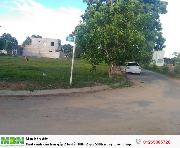 Xuất cảnh cần bán gấp 2 lô đất 100m2 giá 590tr ngay đường nguyễn hữu trí Bình Chánh.