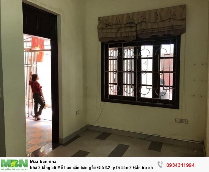 Nhà 3 tầng cũ Mỗ Lao cần bán gấp Dt 55m2 Gần trường TH Trần Phú