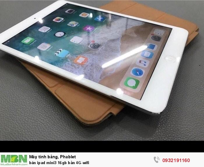 Bán ipad mini3 16gb bản 4G-wifi0