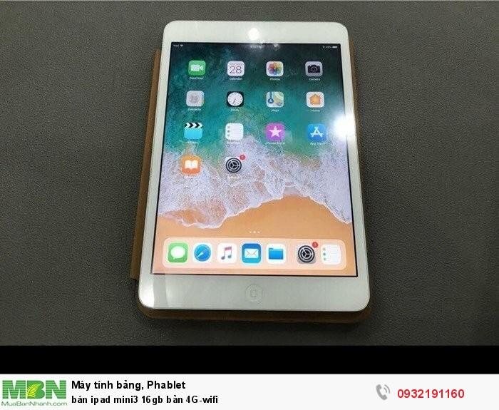Bán ipad mini3 16gb bản 4G-wifi1
