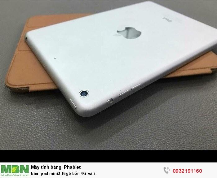 Bán ipad mini3 16gb bản 4G-wifi2