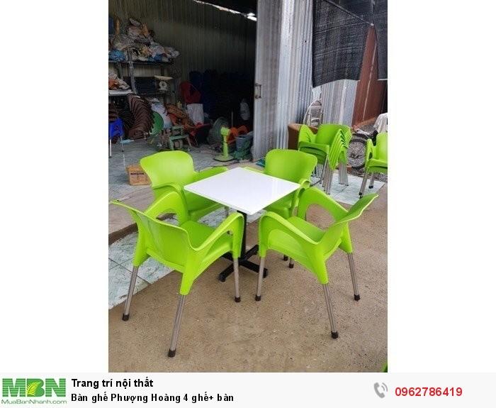 Bàn ghế Phượng Hoàng 4 ghế+ bàn