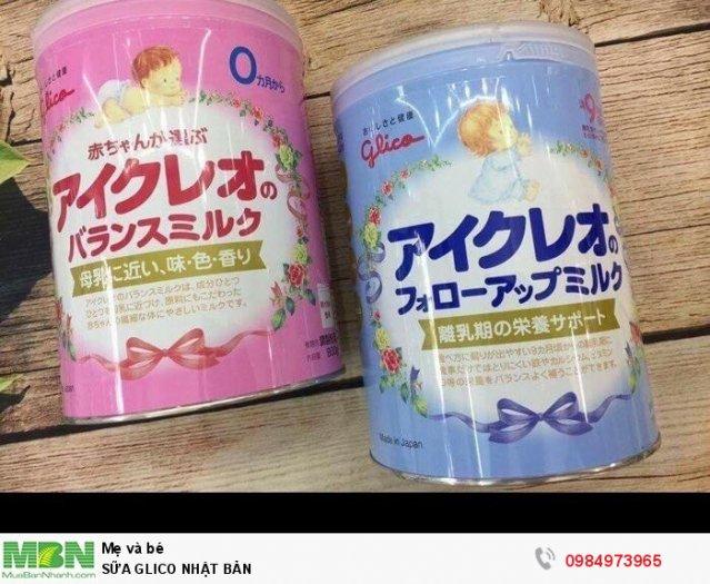 Sữa Glico ( Nhật ) có sẵn các mẹ nhé, dc lựa chọn số 1 của các bà mẹ Nhật Bản0