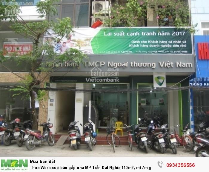 Bán gấp nhà MP Trần Đại Nghĩa 110m2, mt 7m giá 24 tỷ. Lô góc 3 mặt thoáng.