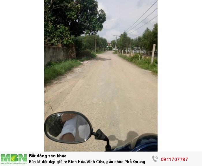 Bán lô đât đẹp giá rẻ Bình Hòa-Vĩnh Cữu, gần chùa Phổ Quang