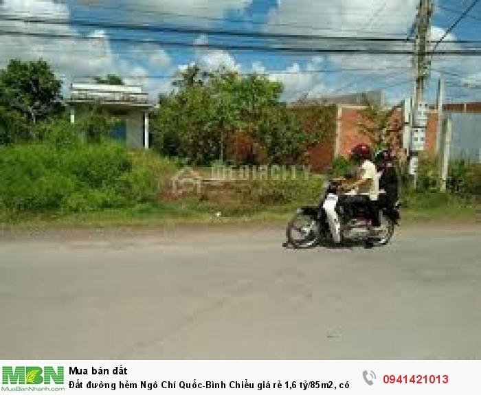 Đất đường hẻm Ngô Chí Quốc-Bình Chiểu, có SHR