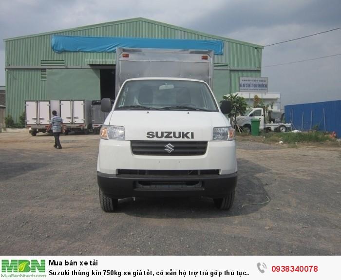 Suzuki thùng kín 750kg xe giá tốt, có sẵn hộ trợ trả góp thủ tục nhanh gọn