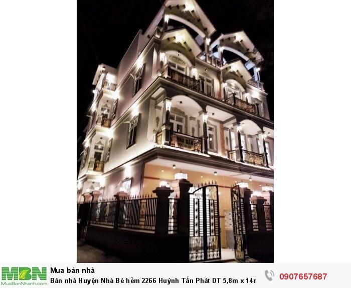 Bán nhà Huyện Nhà Bè hẻm 2266 Huỳnh Tấn Phát DT 5,8m x 14m, 3 lầu