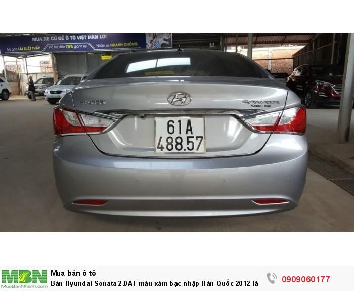 Bán Hyundai Sonata 2.0AT màu xám bạc nhập Hàn Quốc 2012 lăn bánh 2013 full options