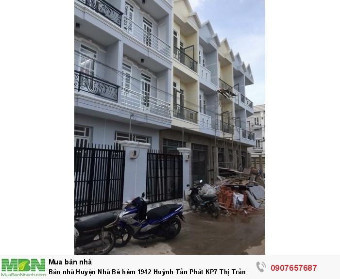 Bán nhà Huyện Nhà Bè hẻm 1942 Huỳnh Tấn Phát KP7 Thị Trấn Nhà Bè DT 4m x 14m, 2 PN
