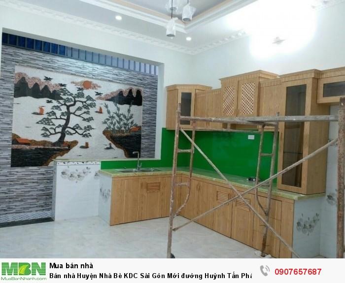 Bán nhà Huyện Nhà Bè KDC Sài Gòn Mới đường Huỳnh Tấn Phát DT 180m2, 3 lầu, 4 phòng ngủ