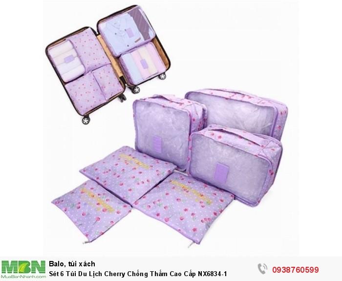 Sét 6 Túi Du Lịch Cherry Chống Thấm Cao Cấp NX6834-10