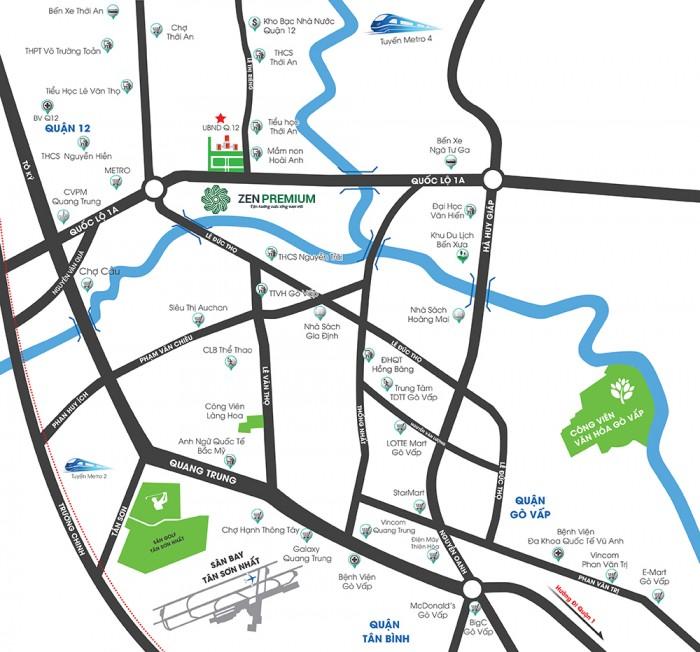 Căn hộ cao cấp giá bình dân khu vực quận 12 giáp ranh Gò Vấp