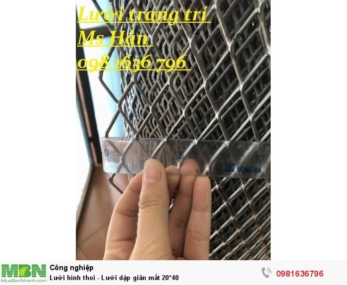 Lưới hình thoi - Lưới dập giãn mắt 20*40