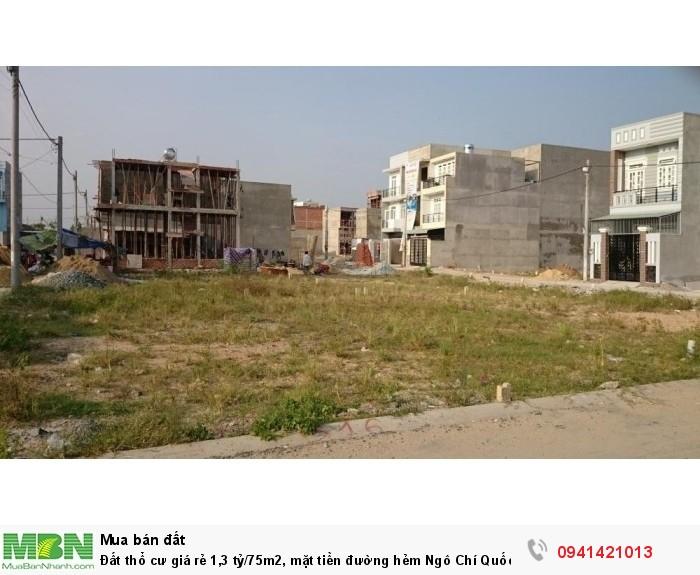 Đất thổ cư giá rẻ 1,3 tỷ/75m2,  mặt tiền đường hẻm Ngô Chí Quốc