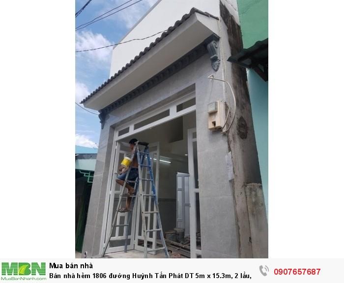 Bán nhà hẻm 1806 đường Huỳnh Tấn Phát DT 5m x 15.3m, 2 lầu, 4PN