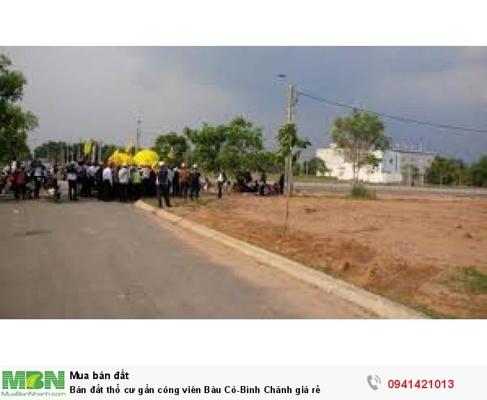 Bán đất thổ cư gần công viên Bàu Cò-Bình Chánh giá rẻ