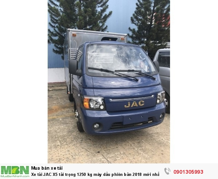 Xe tải JAC X5 tải trọng 1250 kg máy dầu phiên bản 2018 mới nhất .