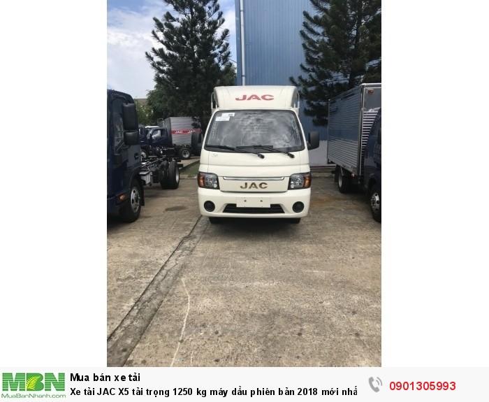 Xe tải JAC X5 tải trọng 1250 kg máy dầu phiên bản 2018 mới nhất . 2