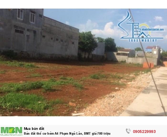 Bán đất thổ cư hẻm A4 Phạm Ngũ Lão, BMT giá 700 triệu