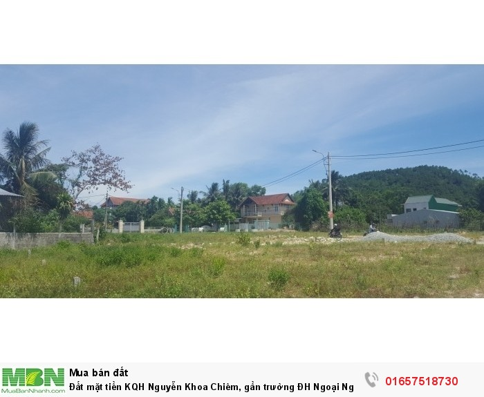 Đất mặt tiền KQH Nguyễn Khoa Chiêm, gần trường ĐH Ngoại Ngữ