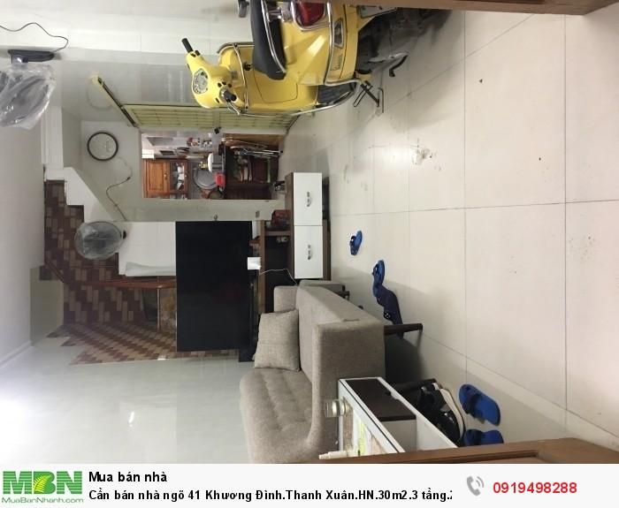 Cần bán nhà ngõ 41 Khương Đình.Thanh Xuân.HN.30m2.3 tầng.2 mặt ngõ