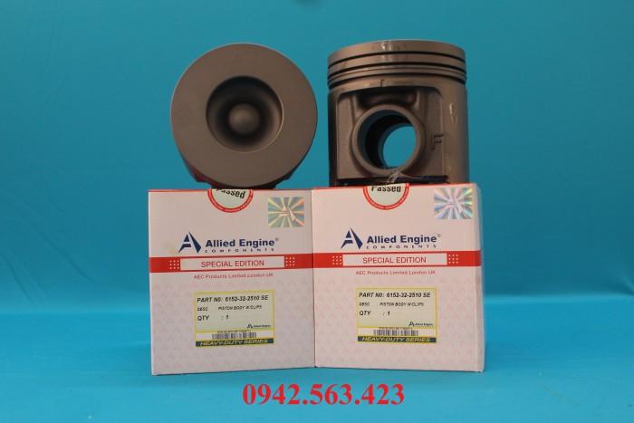Phụ tùng động cơ - bộ hơi S6D125 lắp cho PC300-3, PC400-3, PC400-5, PC400-6