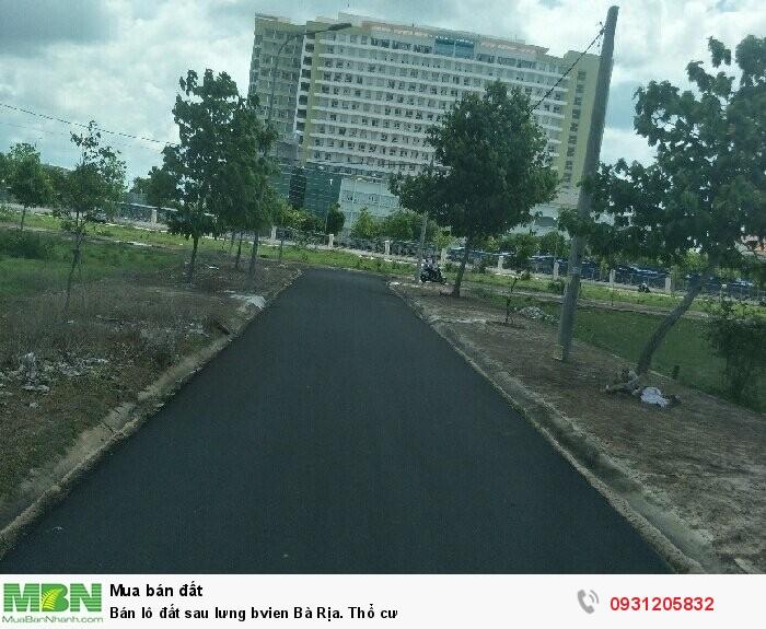 Bán lô đất sau lưng bệnh viện Bà Rịa. Thổ cư