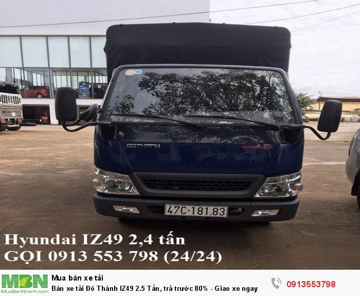 Bán xe tải Đô Thành IZ49 2.5 Tấn, trả trước 80% - Gọi 0913553798 (24/24)