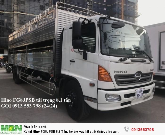Xe tải Hino FG8JPSB 8.2 Tấn, hỗ trợ vay lãi suất thấp, giao xe ngay - Gọi 0913553798 (24/24)