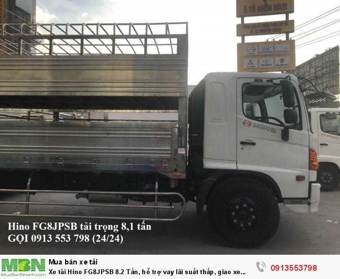 Xe tải Hino FG8JPSB 8.2 Tấn, hỗ trợ vay lãi suất thấp, giao xe ngay