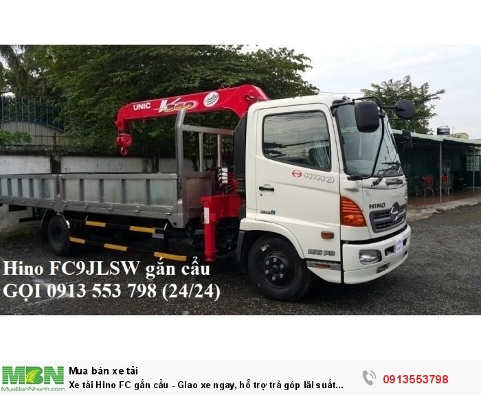 Xe tải Hino FC gắn cẩu - Giao xe ngay, hỗ trợ trả góp lãi suất thấp