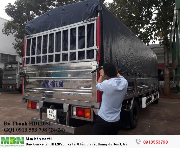 Xe tải HD120SL 8 tấn thùng dài 6m3, trả trước 200tr, Gọi 0913553798 (24/24)